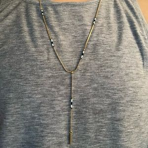 Beaded Blue Dangle Necklace from Madewell